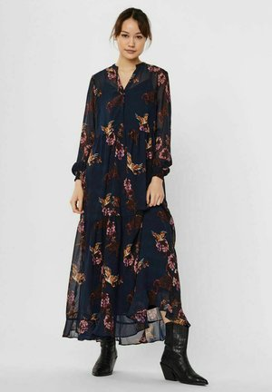Maxi dress - navy blazer