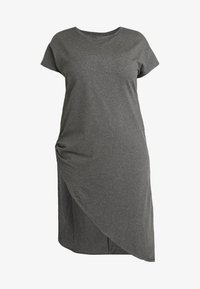 Simply Be - SEVERE ASYMMETRIC - Robe en jersey - charcoal marl - 4