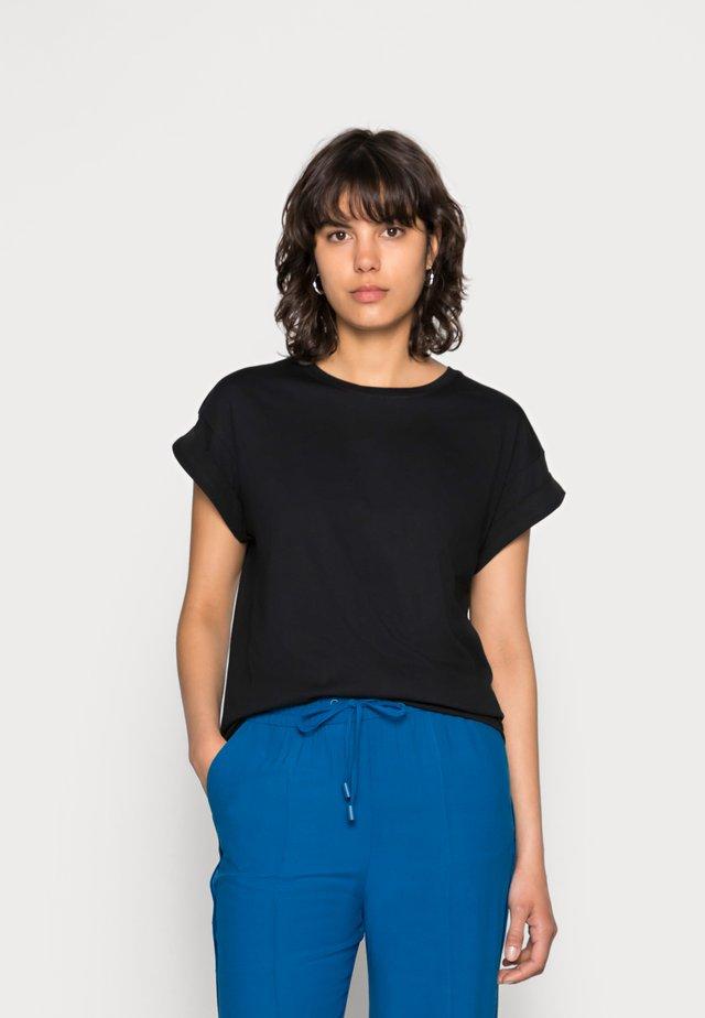 ALVA PLAIN TEE - T-shirt basic - black