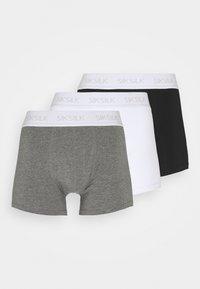 SIKSILK - 3 PACK - Shorty - black/white/grey - 4
