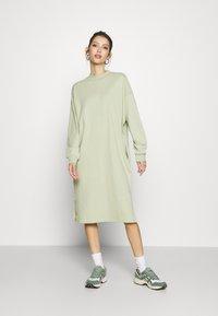 Monki - MINDY DRESS - Jersey dress - green dusty solid - 0