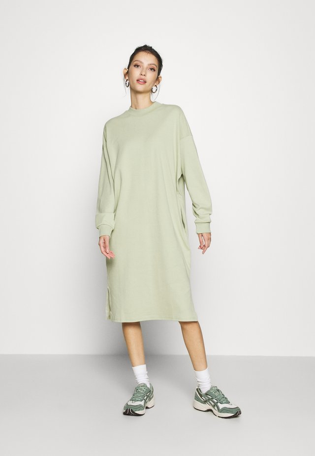 MINDY DRESS - Jerseyjurk - green dusty solid