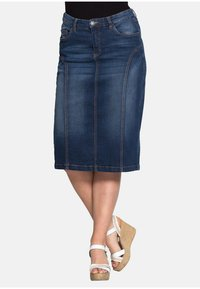 Sheego - Denim skirt - dark blue denim - 0