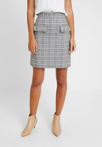 Great Plains London - PARADIS CHECK - A-line skirt - black combo - 0