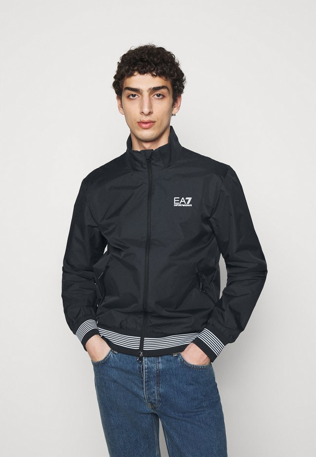 Bomber Jacket - dark blue/white
