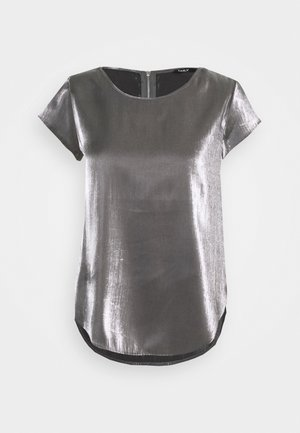 ONLVIC SHIMMER TOP - Bluser - silver colour