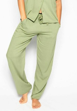Pyjama bottoms - green herringbone