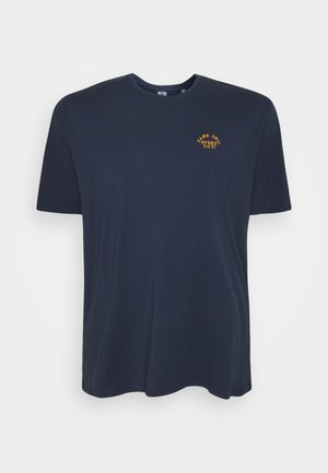 CHEST EMBROIDERY TEE - Print T-shirt - navy
