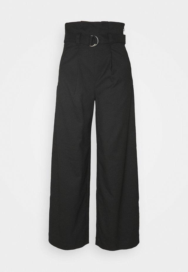 VERA TROUSERS - Pantalon classique - black