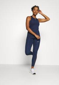 Nike Performance - TANK ALL OVER  - Tekninen urheilupaita - midnight navy/white - 1