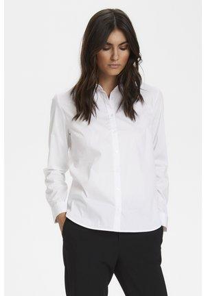 Button-down blouse - pale white