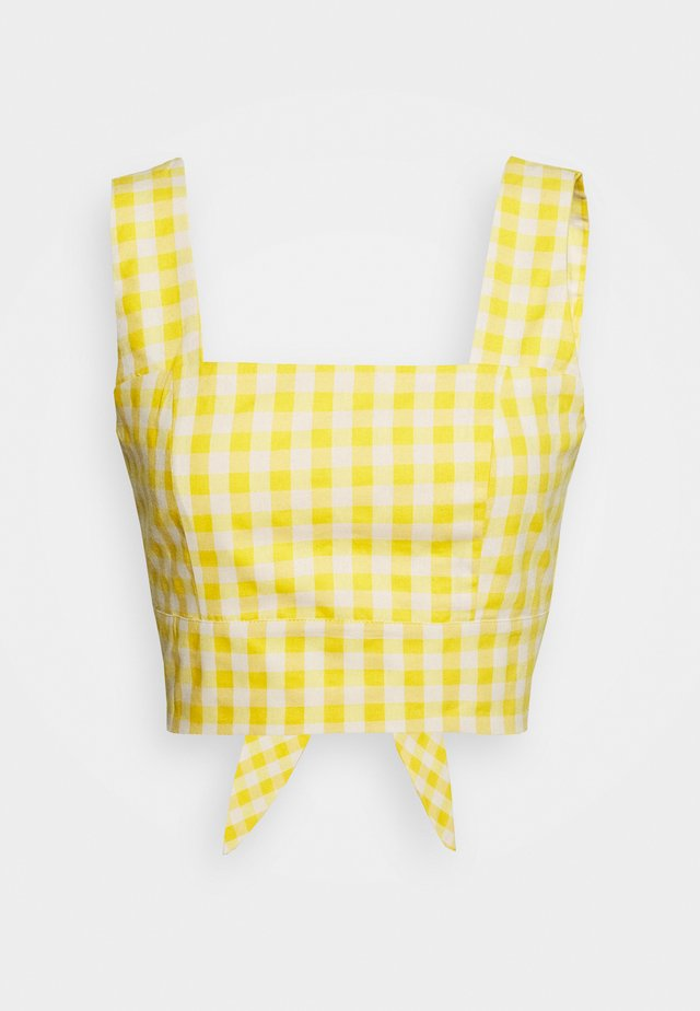 PALOMA GINGHAM BACKLESS CO ORD - Pusero - yellow
