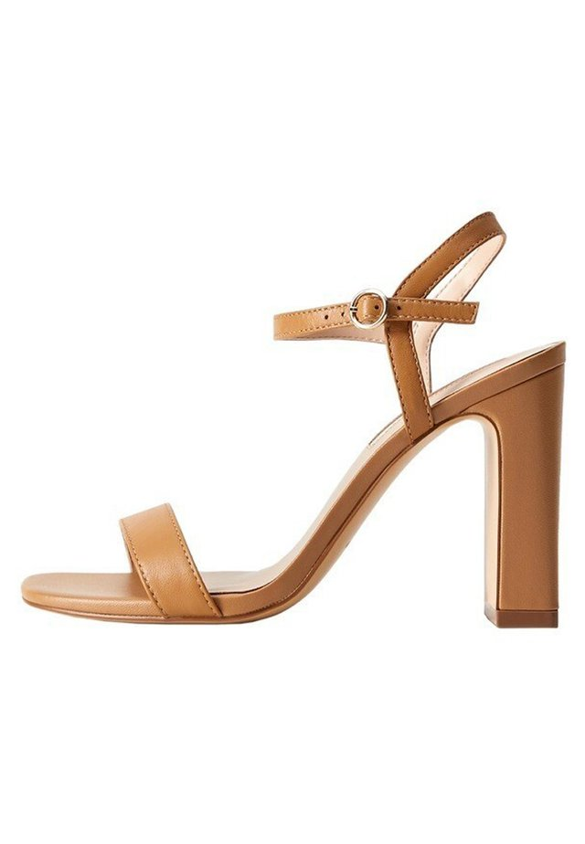 AIR - High heeled sandals - mittelbraun