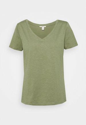 VNECK TEE - Basic T-shirt - light khaki
