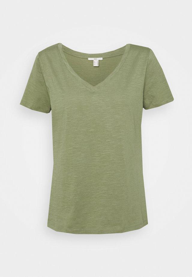 VNECK TEE - T-shirt basic - light khaki
