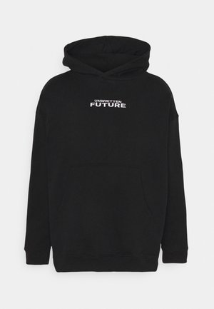 HOODY EMBROIDERED UNISEX - Mikina s kapucí - black