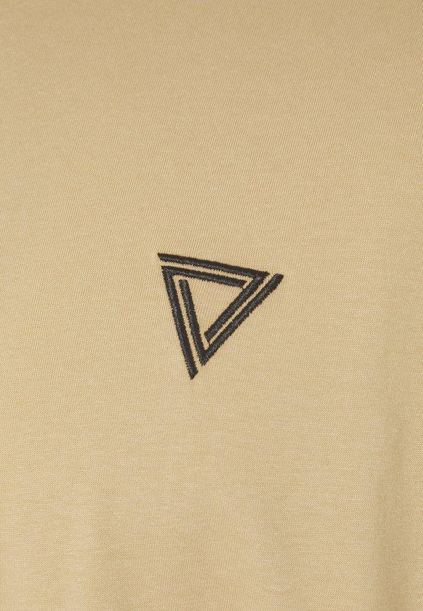 YOURTURN T-shirt z nadrukiem - tan/jasnobrązowy Odzież Męska ZPMD