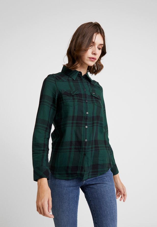 WESTERN CHECK - Button-down blouse - pine