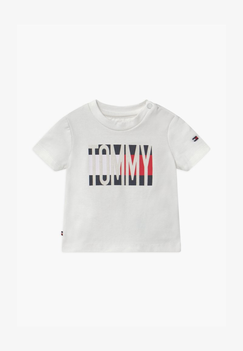 Tommy Hilfiger - BABY FLAG TEE - Print T-shirt - white