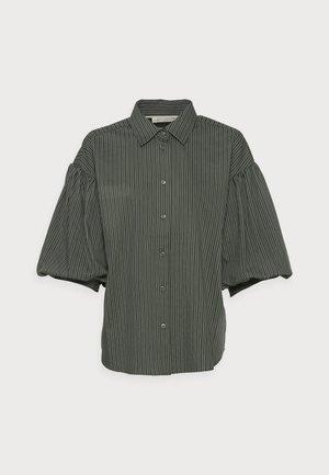 YOKO SHIRT - Button-down blouse - beetle green