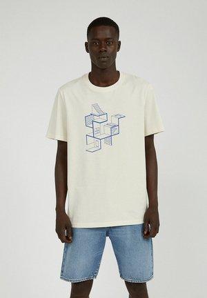 Print T-shirt - undyed