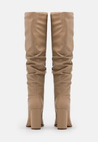 NA-KD - SLOUCHY SHAFT SQUARED TOE BOOTS - High heeled boots - beige - 3