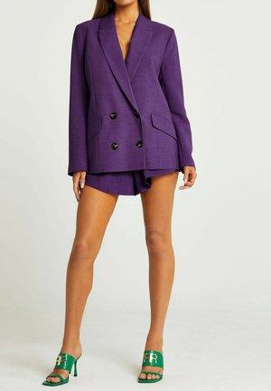 PURPLE DOUBLE BREASTED OVERSIZED - Blazer - purple
