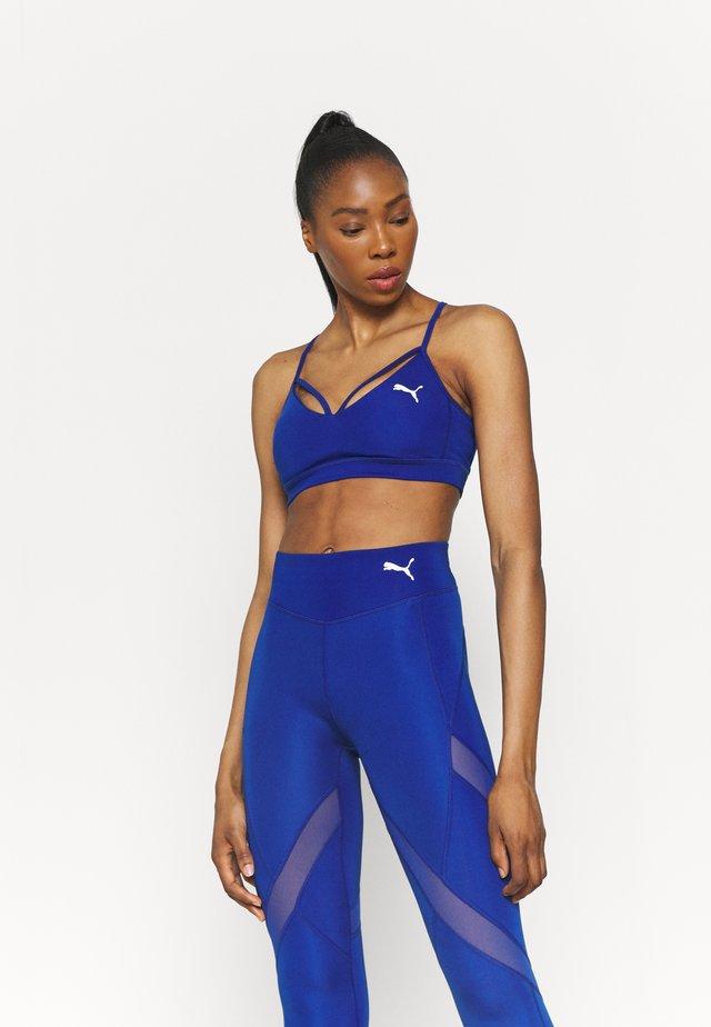 PAMELA REIF X PUMA STRAPPY BRA - Reggiseno sportivo con sostegno leggero - mazerine blue