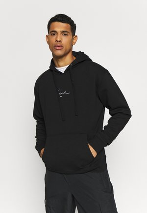 SIGNATURE HOODIE - Sweat à capuche - black/white
