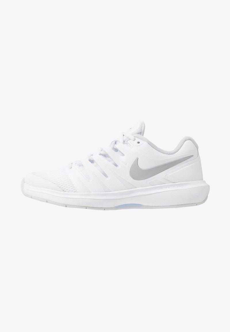 Nike Performance - AIR ZOOM PRESTIGE CARPET - Carpet court tennis shoes - white/metallic silver/pure platinum/aluminum