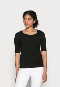 Opus - SANIKA  - T-shirt - bas - black - 0