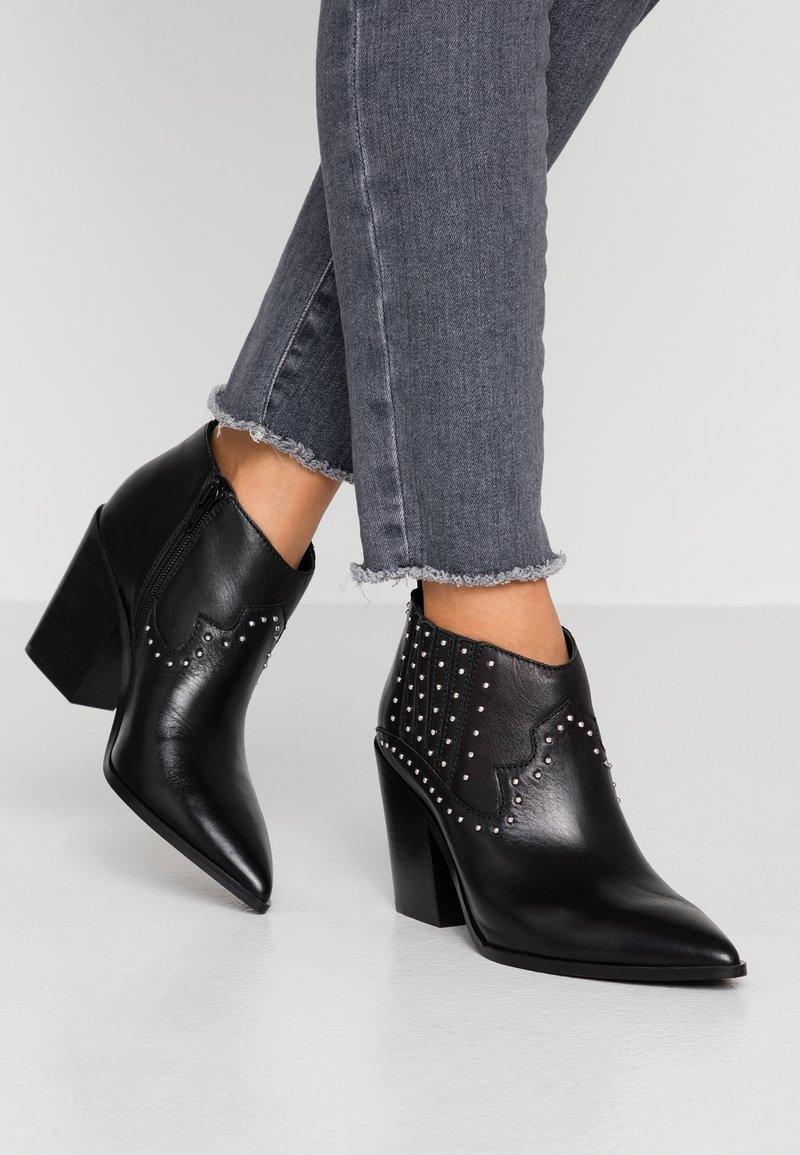 ALDO - PRAUCLYA - High heeled ankle boots - black