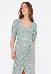 BEAUUT - CLARICE EMBELLISHED SEQUINS  - Occasion wear - sage green - 3