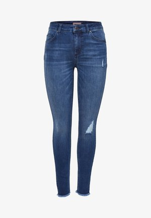 MID ANKLE RAW - Jeans Skinny Fit - dark blue