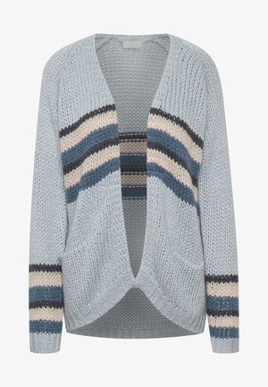 BPKANVA - Cardigan - blue fog with stripes