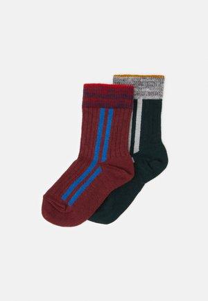CARL 2 PACK - Ponožky - bordeaux