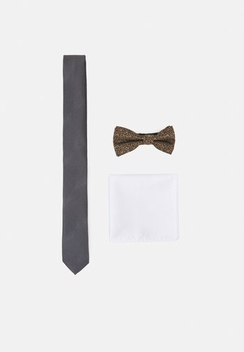 JACMETALLIC NECKTIE SET - Corbata - grey/gold-coloured