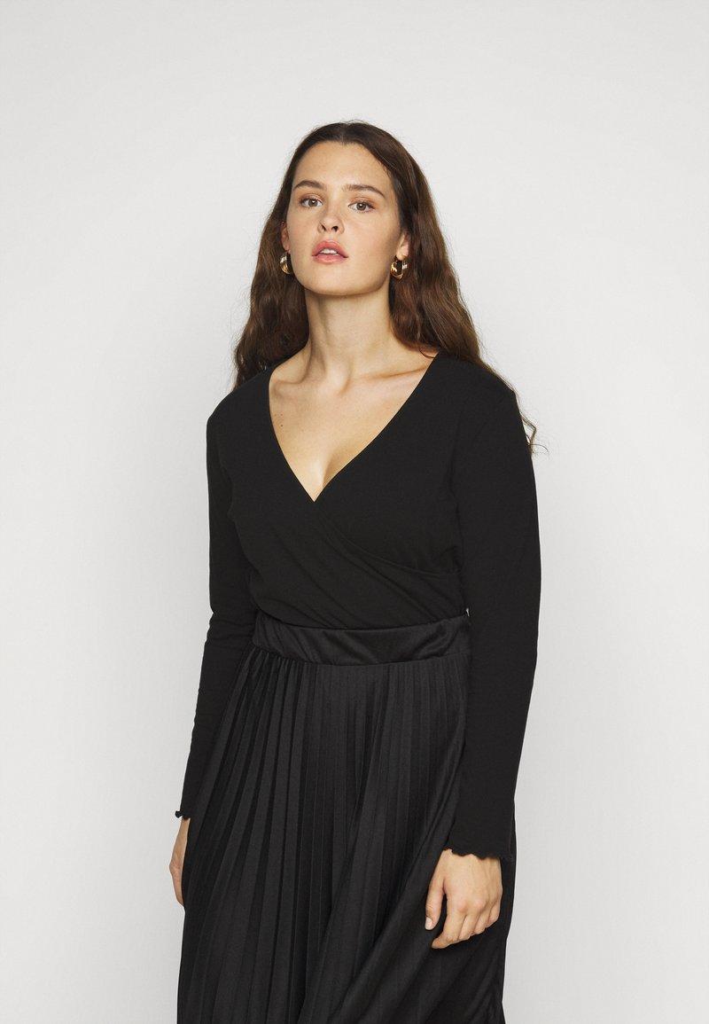Even&Odd Curvy - Long sleeved top - black