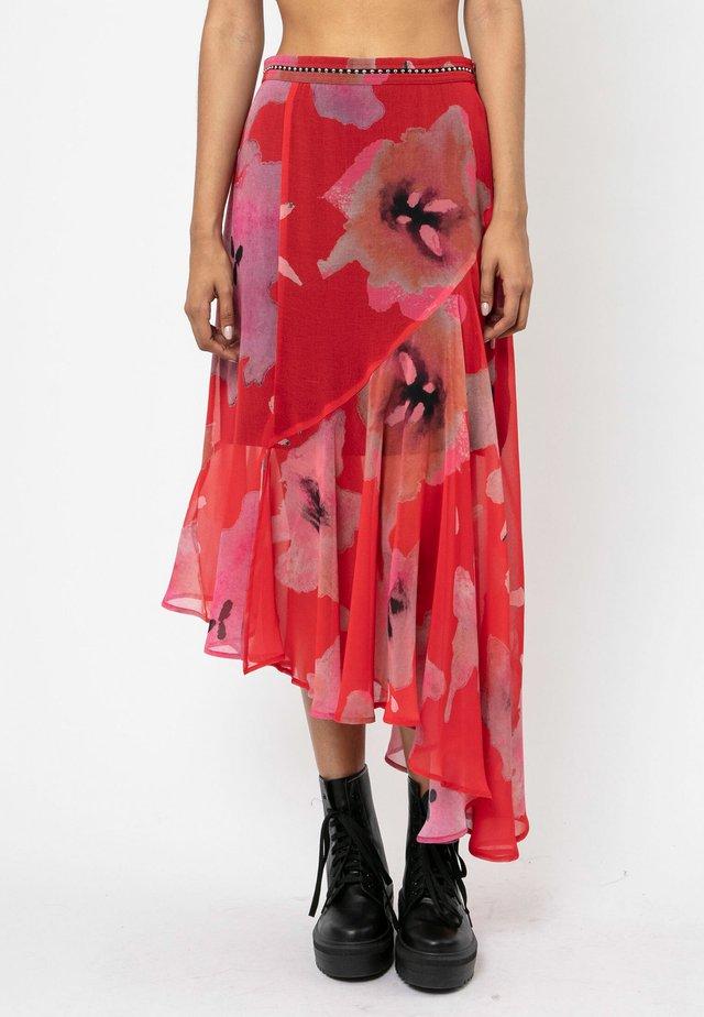 PRECIOUS - Spódnica plisowana - red