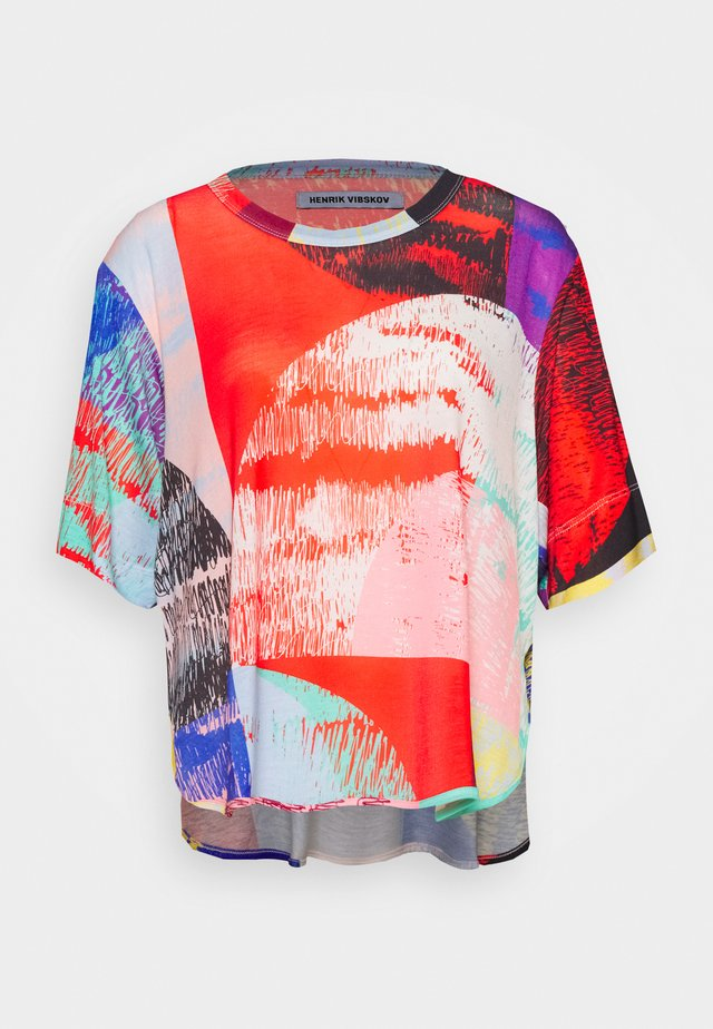 GRABBER TEE BLURRY LIGHTS PRINT - T-shirt con stampa - multi-coloured