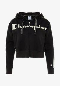 Champion - HOODED FULL ZIP - Sweatjakke /Træningstrøjer - black - 4