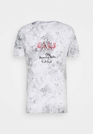 BEVERLY HILLS TEE - Print T-shirt - grey