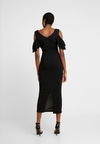 WAL G. - MIDI SHOULDER FRILL DRESS - Cocktail dress / Party dress - black - 2
