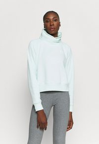 Under Armour - RIVAL WRAP NECK - Sweatshirt - seaglass blue - 0