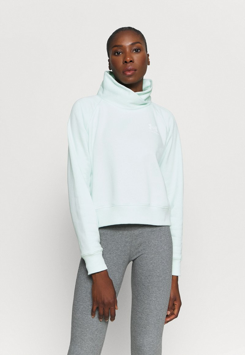 Under Armour - RIVAL WRAP NECK - Sweatshirt - seaglass blue