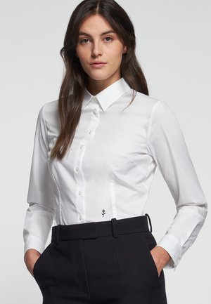 LANGARM - Button-down blouse - weiß