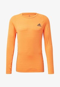 adidas Performance - RUNNER LONG-SLEEVE TOP - Long sleeved top - orange - 6