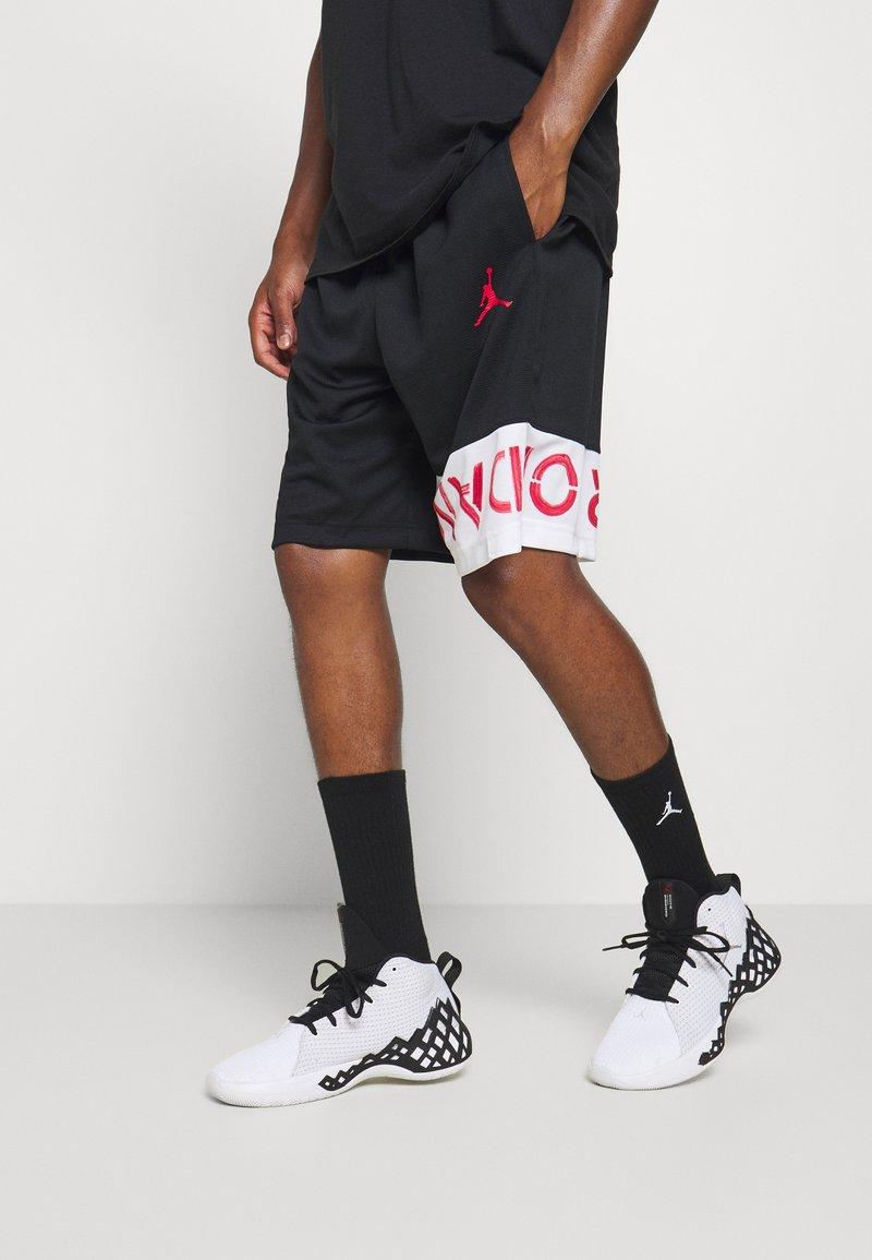 Jordan - AIR SHORT - Sportovní kraťasy - black/white/infrared