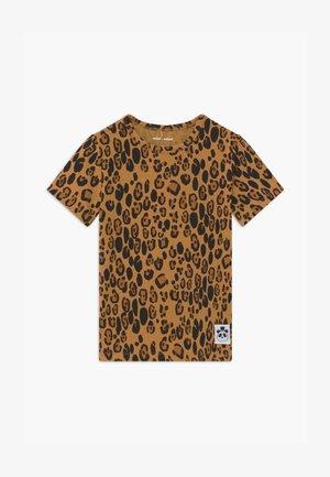 BASIC LEOPARD TEE UNISEX - T-shirt con stampa - beige