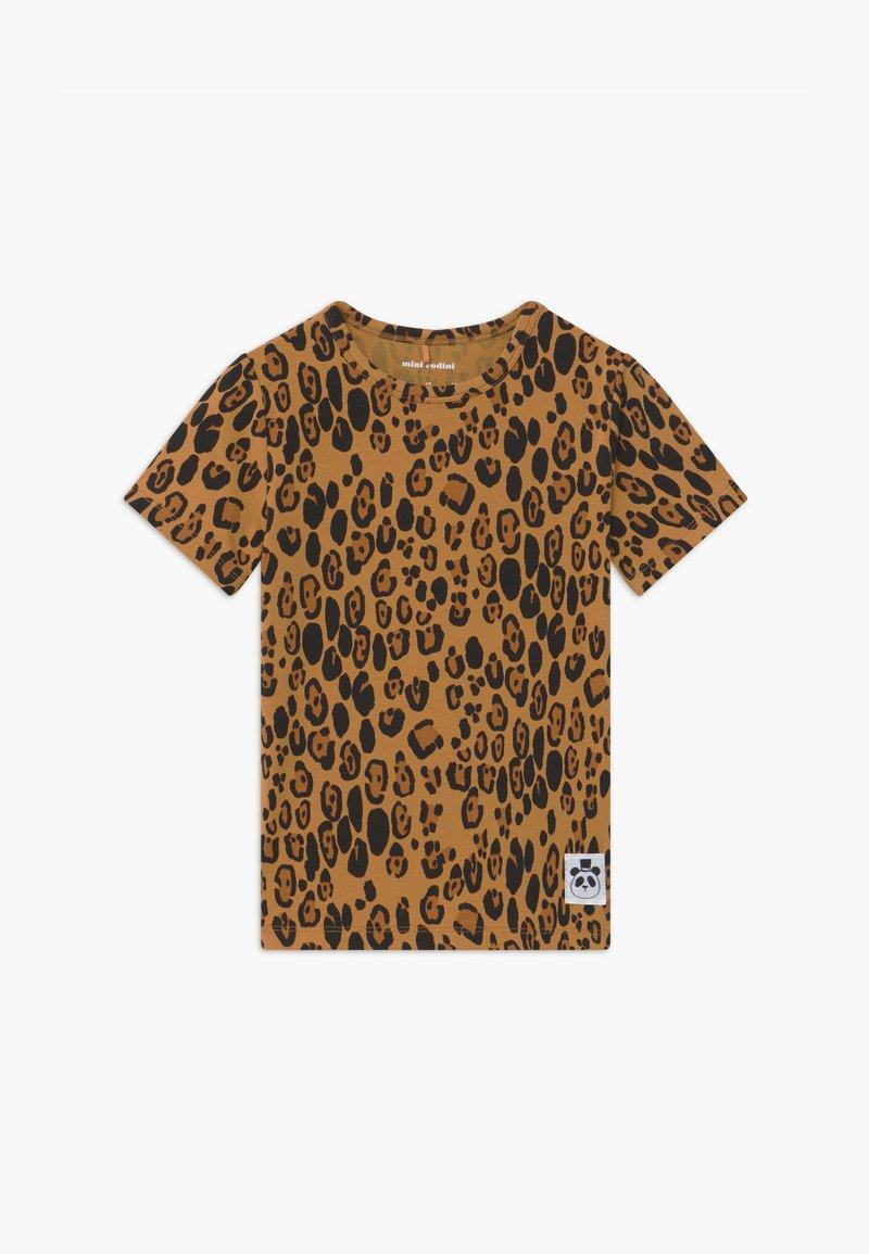 Mini Rodini - BASIC LEOPARD TEE UNISEX - Print T-shirt - beige